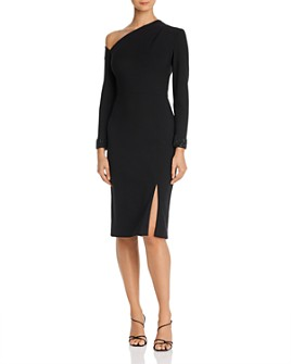 Aidan Mattox - Beaded Asymmetric Sheath Dress