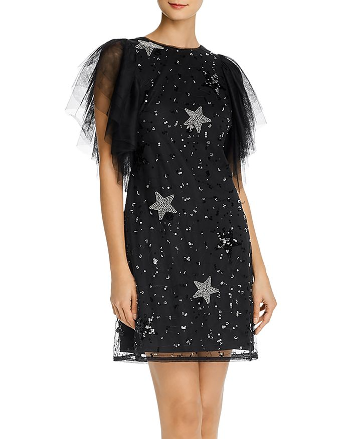 Aidan by Aidan Mattox - Embellished Tulle Cocktail Dress