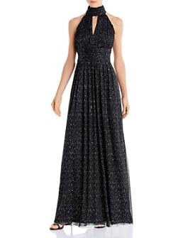 Eliza J - Glitter Halter Gown