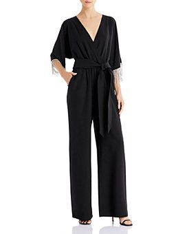 Laundry by Shelli Segal - Embellished Faux-Wrap Jumpsuit - 100% Exclusive