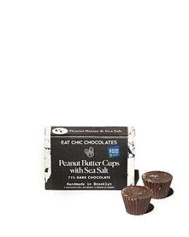 Eat Chic Chocolates - Dark Chocolate Peanut Butter Cups with Sea Salt