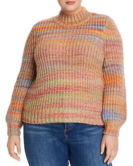 AQUA Curve - Rainbow Puff-Sleeve Sweater - 100% Exclusive