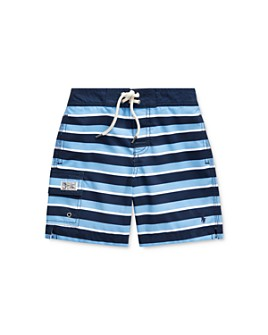 Ralph Lauren - Boys' Kailua Striped Swim Trunks - Little Kid