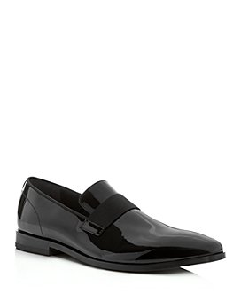 BOSS - Men's Highline Patent Leather Smoking Slippers