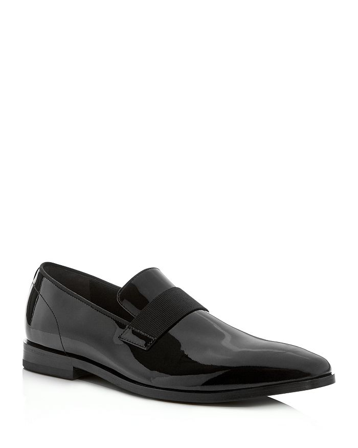 BOSS - Men's Highline Patent Leather Smoking Slippers