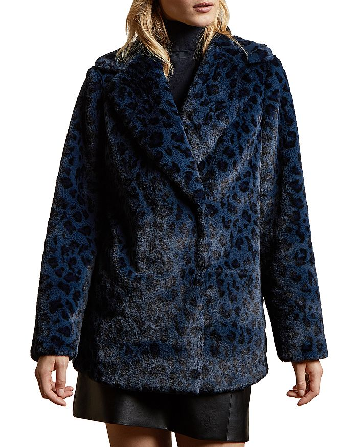 Ted Baker - Zenaida Leopard-Printed Faux-Fur Coat