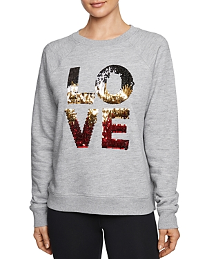 Betsey Johnson Love Sequined Sweatshirt