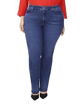 NYDJ Plus - Marilyn Straight-Leg Jeans in Habana