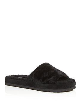 Vince - Women's Kalina Shearling Slide Sandals