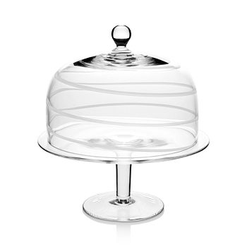 William Yeoward Crystal - Bella Blue Cake Stand & Dome