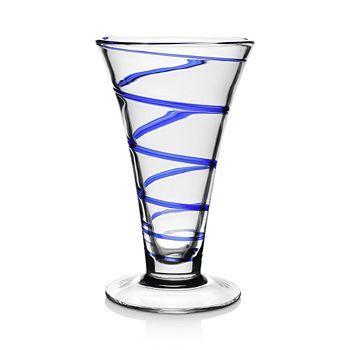 "William Yeoward Crystal - Bella Blue Vase, 9"""