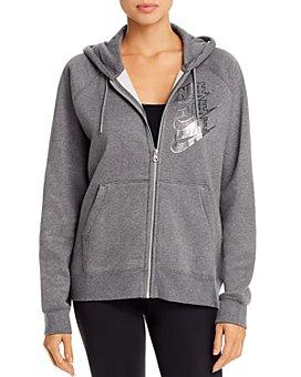 Nike - Metallic-Logo Fleece Hoodie