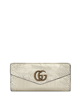 Gucci - Broadway Snakeskin Clutch with Double G