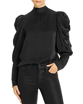 Notes du Nord - Missy Silk Puff-Sleeve Blouse