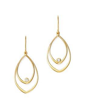 Bloomingdale's - Diamond Double Teardrop Earrings in 14K Yellow Gold - 100% Exclusive