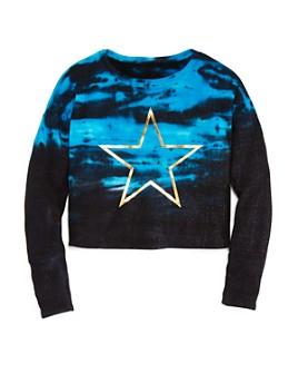 Play Six - Girls' Tie-Dye Star Sweatshirt - Little Kid