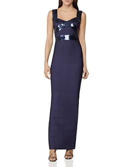 Hervé Léger - Banded Sequin-Embellished Gown