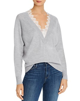 Rebecca Taylor - Lace-Trimmed Merino Wool Sweater