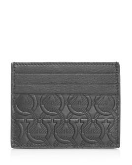 Salvatore Ferragamo - Gancini Embossed Leather Card Case