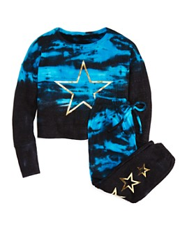 Vintage Havana - Girls' Tie-Dye Star Sweatshirt & Jogger Pants - Big Kid