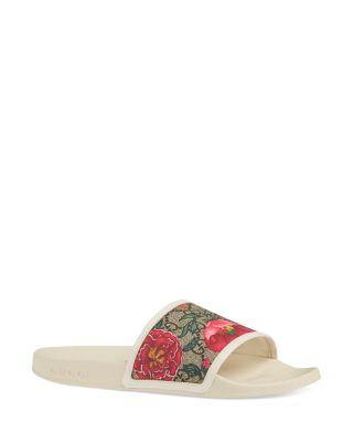 Gucci Women's GG Flora Slide Sandals