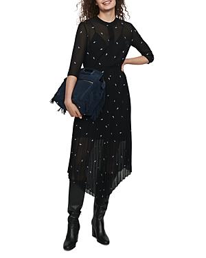 Maje Remi Paisley Embellished Midi Dress