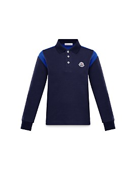 Moncler - Boys' Long Sleeve Polo Shirt - Little Kid