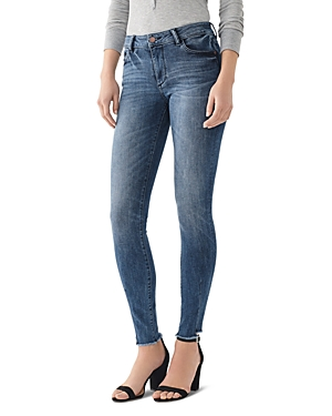 DL1961 Florence Mid-Rise Skinny Jeans in Barbon