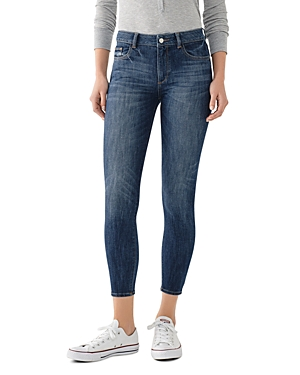 DL1961 Florence Mid-Rise Cropped Skinny Jeans in Trenton