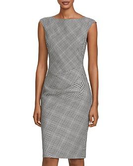 Lafayette 148 New York - Della Virgin Wool Plaid Sheath Dress