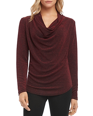 Karen Kane Knits SPARKLE KNIT COWL-NECK TOP