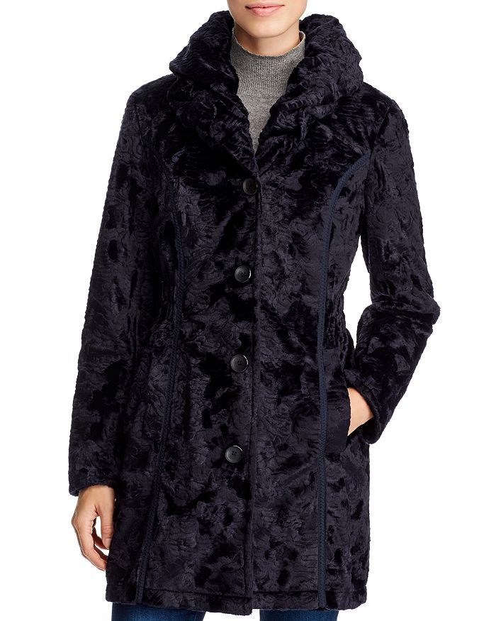 Laundry By Shelli Segal LAUNDRY BY SHELLI SEGAL REVERSIBLE FAUX SHEARLING & QUILTED COAT