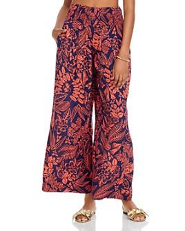 AQUA - Botanical Wide-Leg Pants - 100% Exclusive