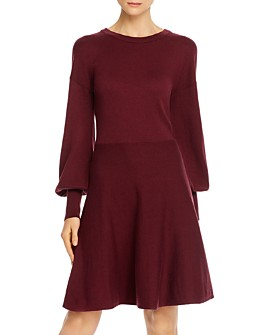 FRENCH CONNECTION - Long-Sleeve Fit-and-Flare Dress