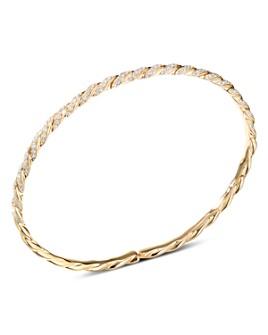 David Yurman - 18K Yellow Gold Pavéflex Single Row Bracelet with Diamonds