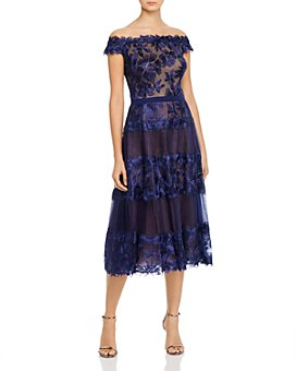 Tadashi Shoji - Off-the-Shoulder Floral Embroidered Dress