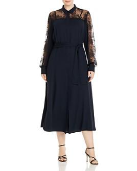 Marina Rinaldi - Dipinto Lace-Detail Crepe Midi Dress