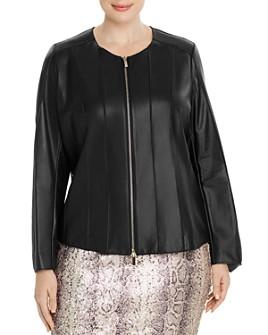 Marina Rinaldi - Eroe Seamed Leather Jacket
