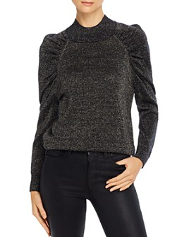 Joie - Artima Metallic Puff-Sleeve Sweater