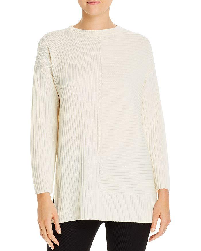 Eileen Fisher - Merino Wool Directional-Rib Sweater - 100% Exclusive