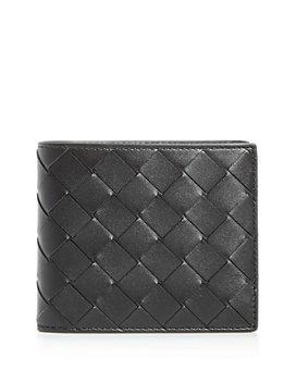 Bottega Veneta - Intreciatto Woven Leather Bi-Fold Wallet