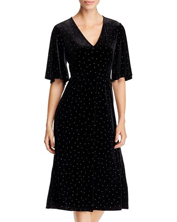 Leota - Zoe Studded Velvet Dress