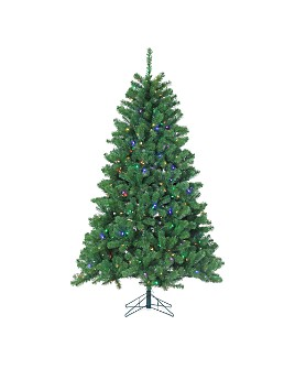 Gerson Company - 7 ft. Montana Pine with Multicolor LED Lights