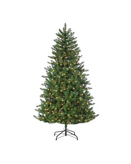 Gerson Company - 6.5 ft. Stone Pine with Warm White LED Lights