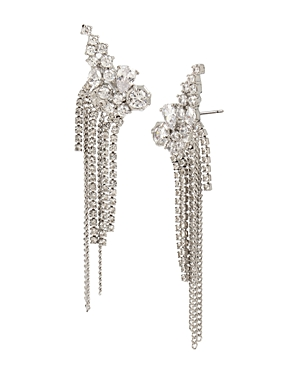 Allsaints Accessories STONE CLUSTER FRINGE EAR CRAWLERS