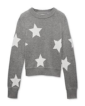 Spiritual Gangster - Girls' Star Intarsia Sweater - Big Kid