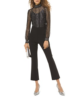 MICHAEL Michael Kors - Metallic-Dot Embellished Lace Jumpsuit