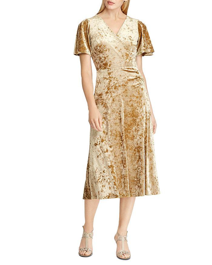 Ralph Lauren - Velvet Faux-Wrap Dress