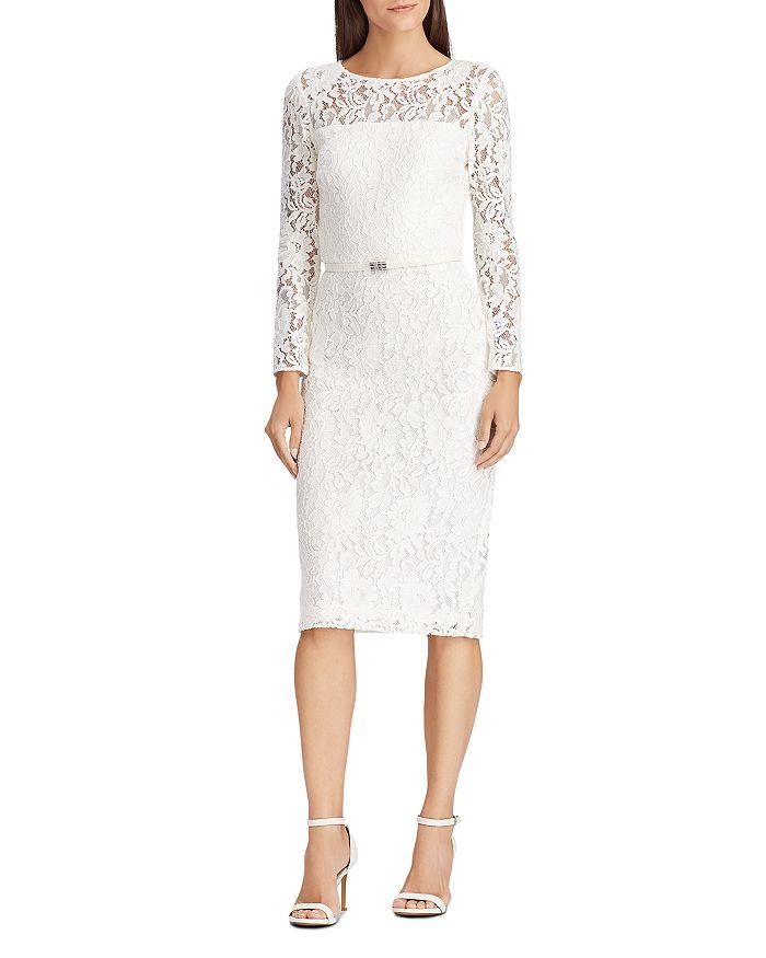 Ralph Lauren - Belted Floral-Lace Dress