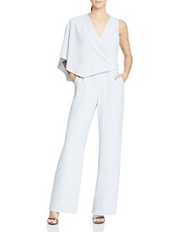 HALSTON - Asymmetric Draped Jumpsuit
